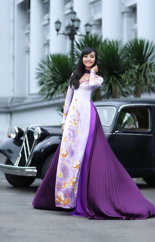 越南的传统旗袍 - 衣旧如人 - 幸福的花儿永远盛开