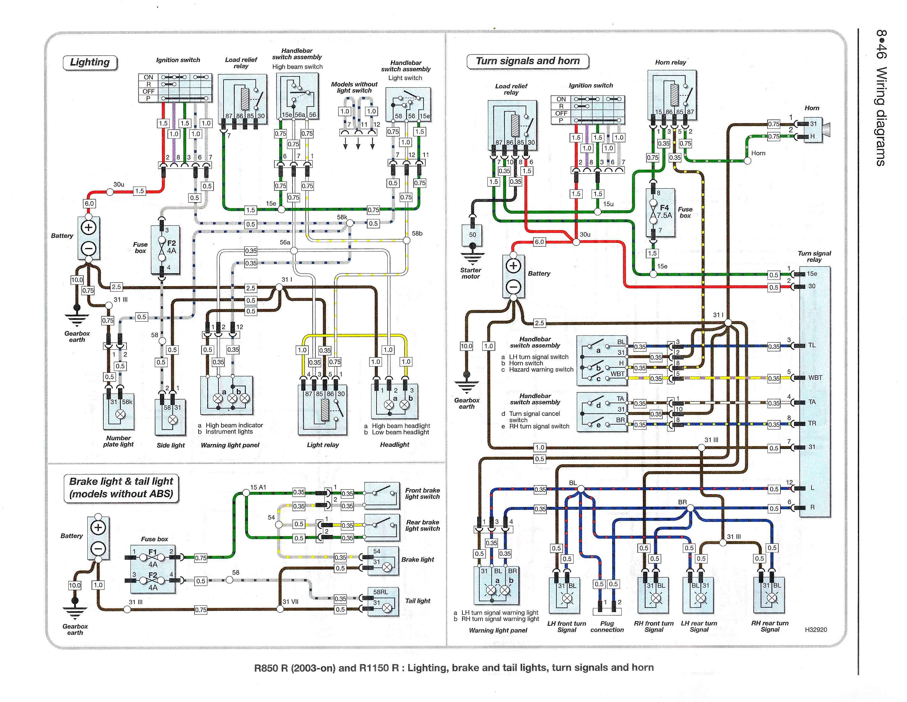 Schema Elettrico Bmw K75 : Schema elettrico r r r r quellidellelica forum bmw moto il