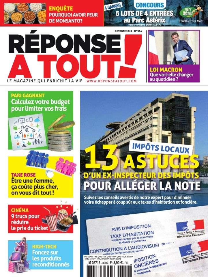 Réponse À Tout ! 304 - Octobre 2015