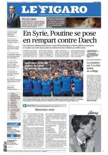 Le Figaro du vendredi 18 septembre 2015