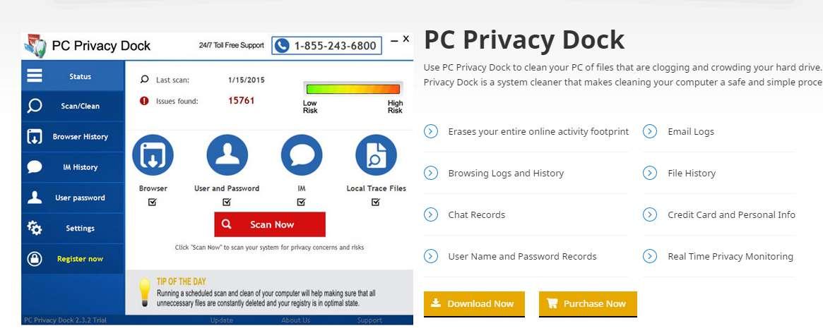 Remove  PC Privacy Dock