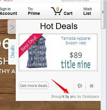 Ads by dealspace malware