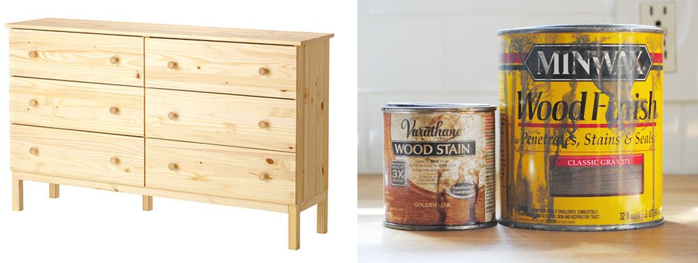 Inexpensive Ikea chest transformation