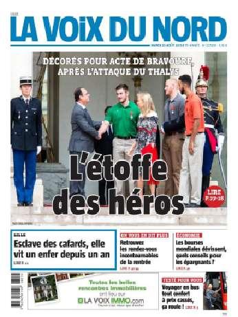 La Voix Du Nord (Lille) Du Mardi 25 Août 2015