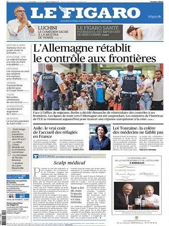 Le Figaro Du Lundi 14 Septembre 2015