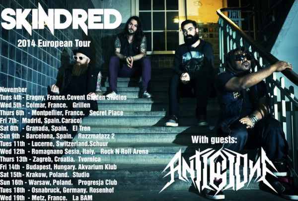 Skindred gira europea