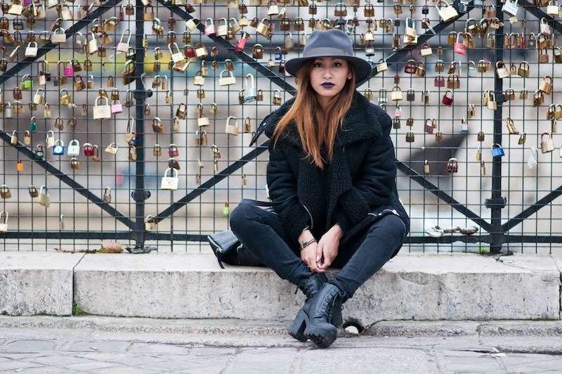 bottines noires en cuir vagabond blog mode