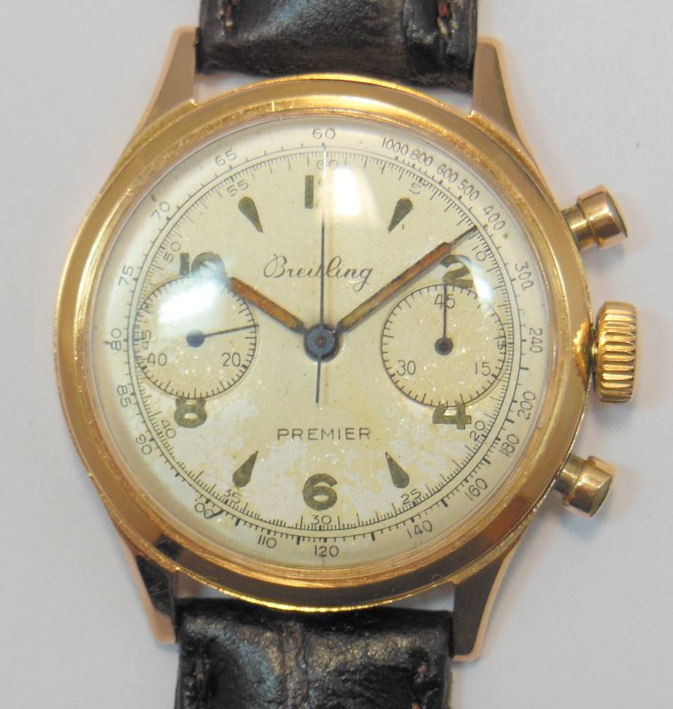 No Easy Answers In Afghanistan >> VINTAGE BREITLING PREMIER CHRONOGRAPH GENTS WRIST WATCH 18K GOLD SERVICED 790 NR