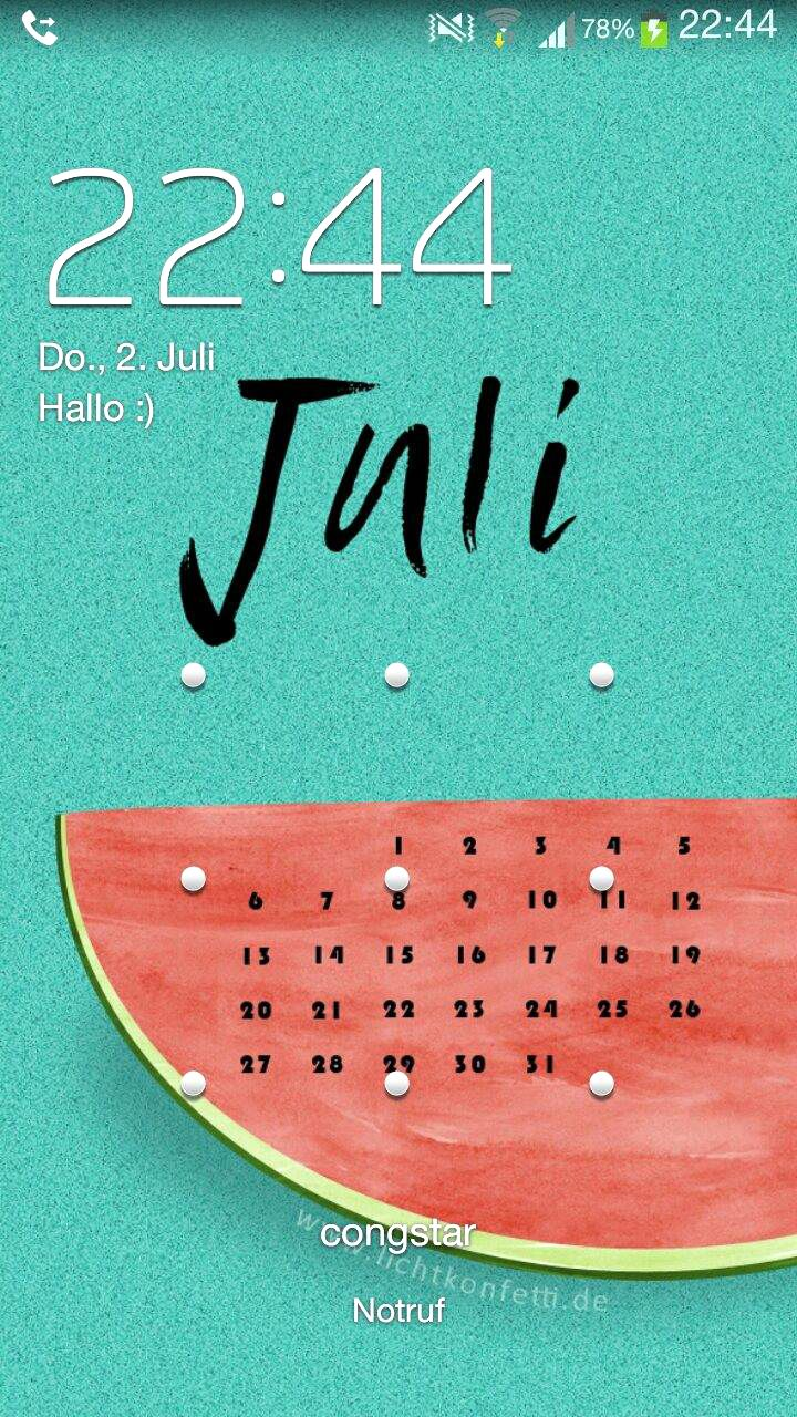 Wallpaper Smartphone iPhone Summer Melone Juli