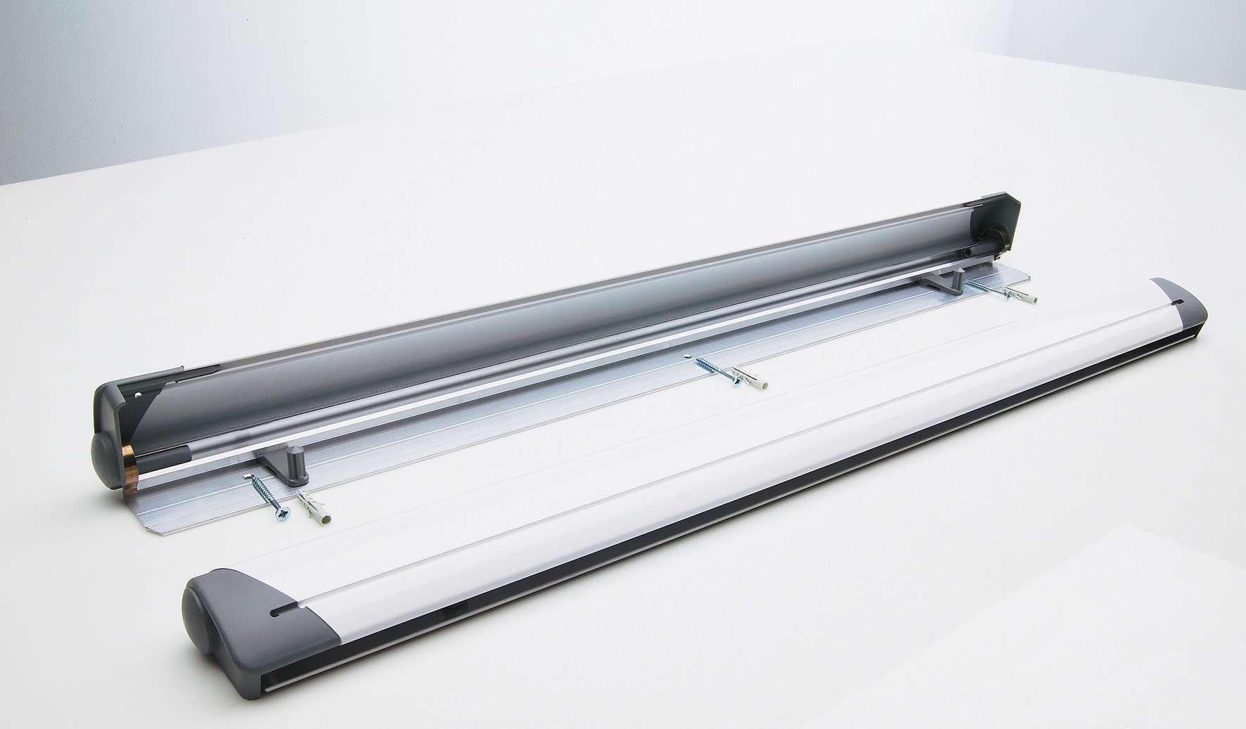 Photo: Design flip-overklem wit, geboord muurmontage