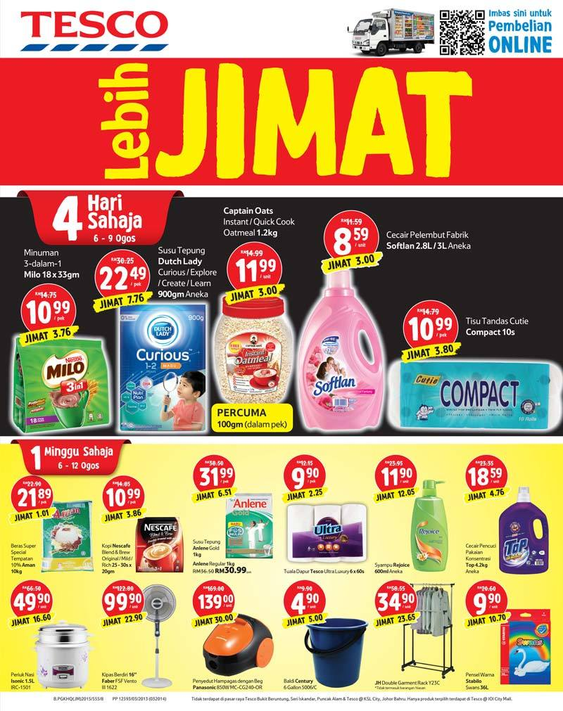 Tesco Promotion : Weekly Catalogue (6 August - 12 August 2015)