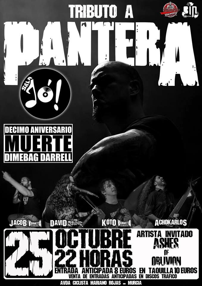 Tributo Pantera Murcia. Cartel