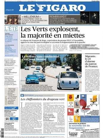 Le Figaro Du Vendredi 28 Août 2015