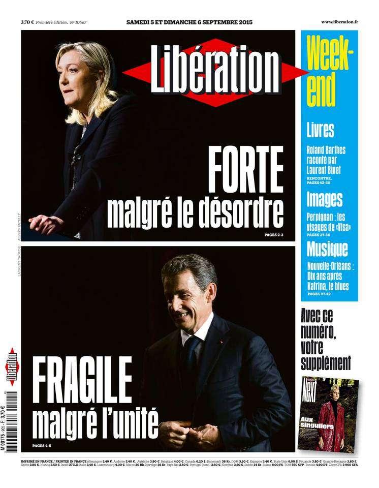Libération week-end du Samedi 5 septembre 2015