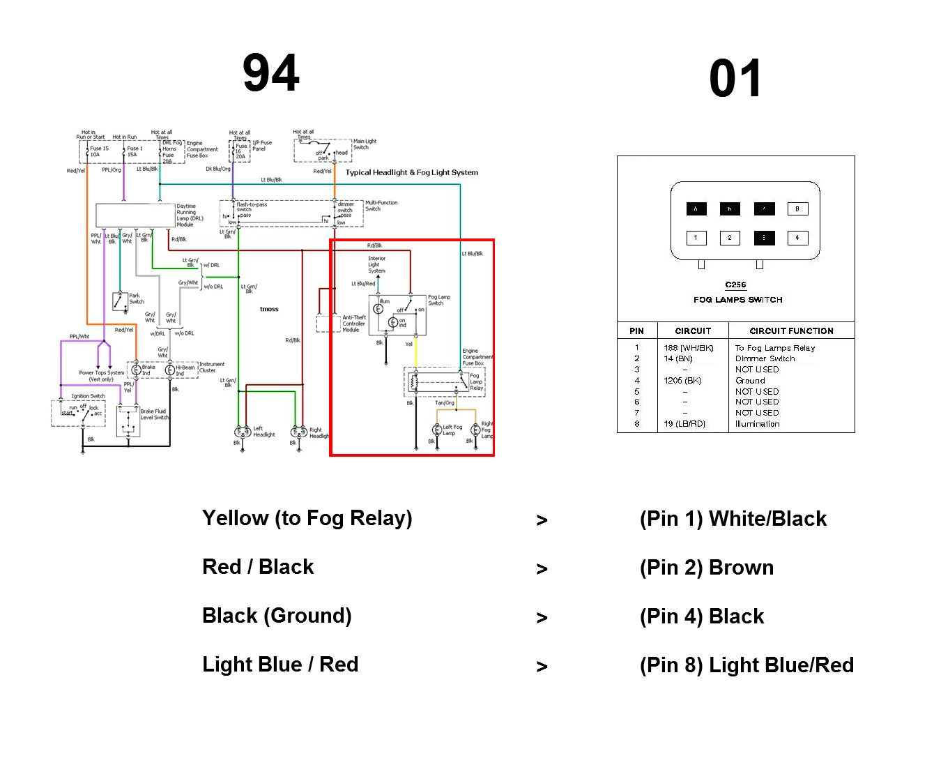 3 Way Switch Wiring Diagram Fog Light Relay With And Lighted 0zbefq