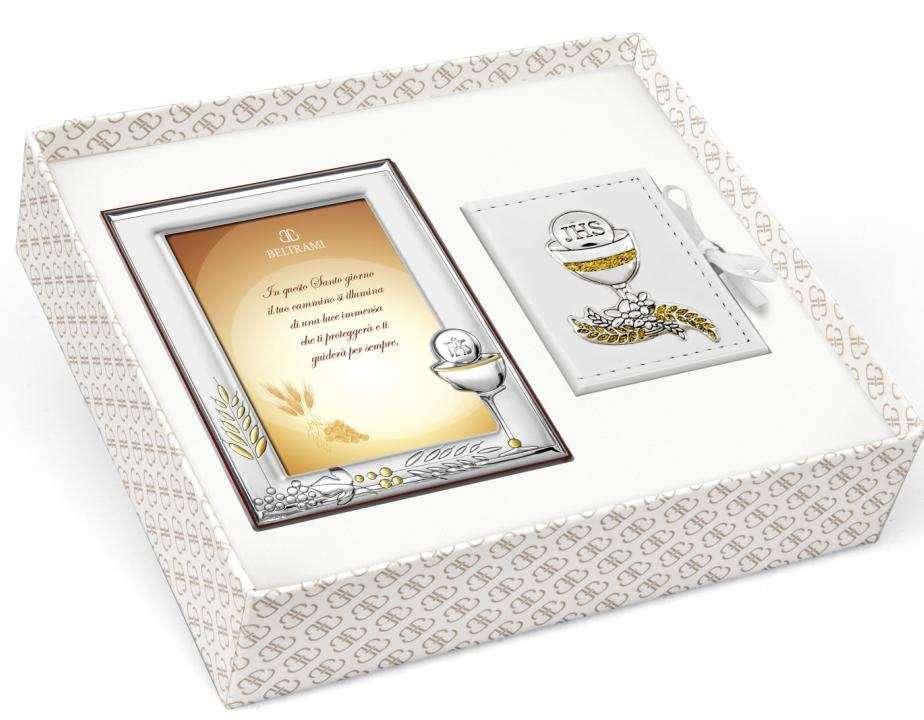 beltrami ensemble premi re communion cadre photo calice argent porta chapelet et ebay. Black Bedroom Furniture Sets. Home Design Ideas