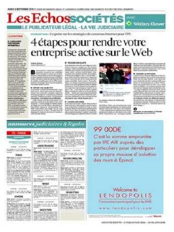 Les Echos Sociétés Du Mardi 8 Septembre 2015
