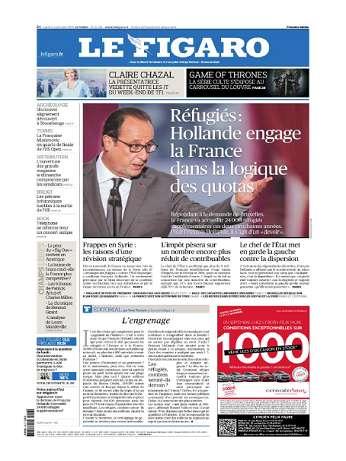Le Figaro Du Mardi 8 Septembre 2015