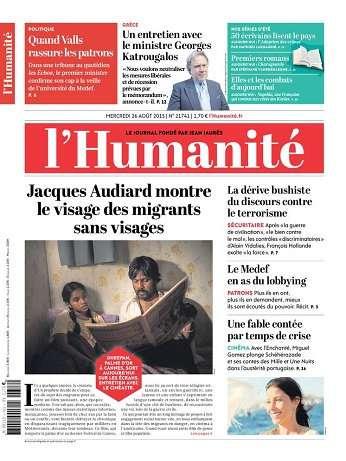 L'humanite Du Mercredi 26 Août 2015