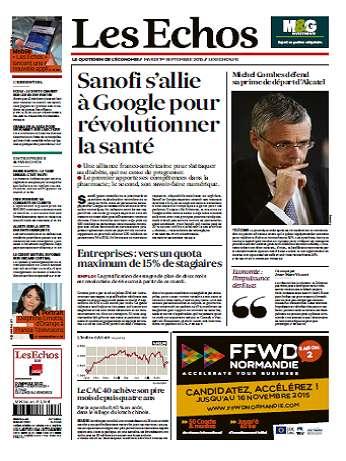Les Echos Du Mardi 1 Septembre 2015