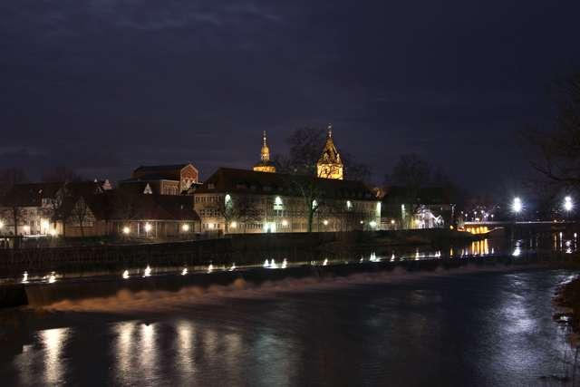 Hameln bei Nacht - Weser