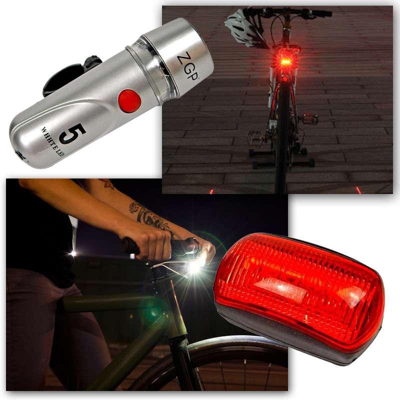 Farol Bicicleta Bike Sinalizador 5 Leds Lanterna Traseira hardfast