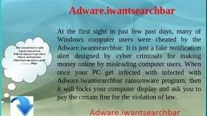 Verwijder Adware.iwantsearchbar