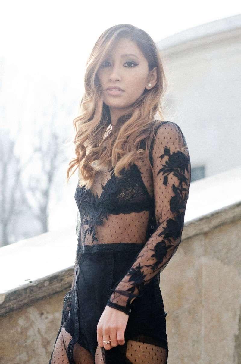 robe en dentelle  blog mode paris