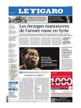 Le Figaro Du Vendredi 11 Septembre 2015