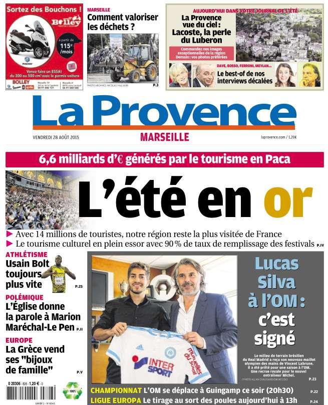 La Provence Marseille du vendredi 28 aout 2015