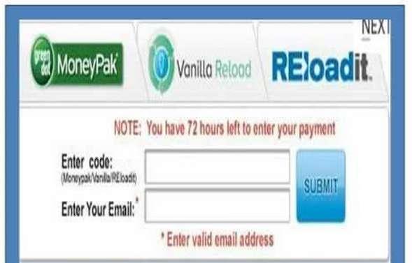 Remove FBI Vanilla Reloadcard virus