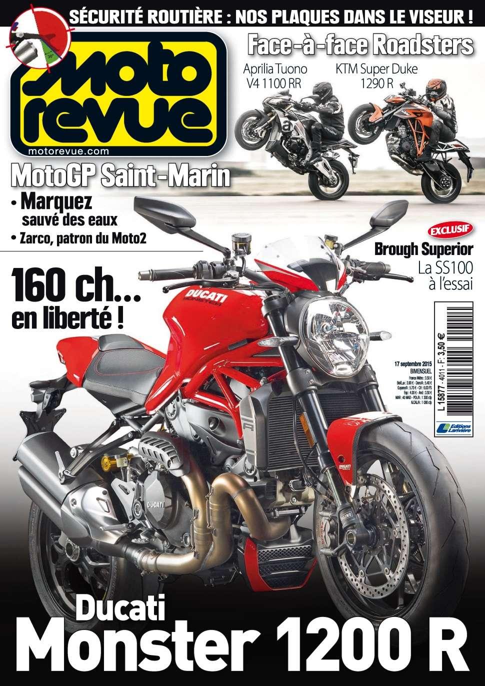 Moto Revue 4011 - 17 au 30 Septembre 2015