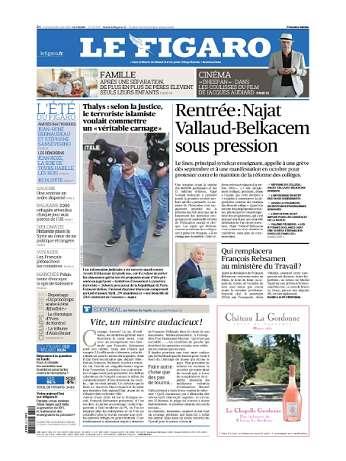 Le Figaro Du Mercredi 26 Août 2015