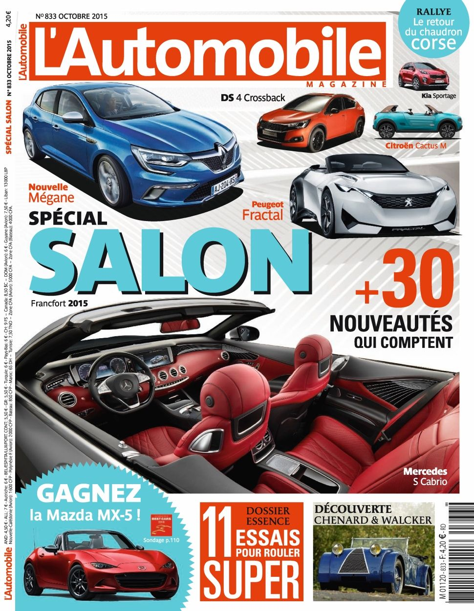 L'Automobile magazine 833 - Octobre 2015