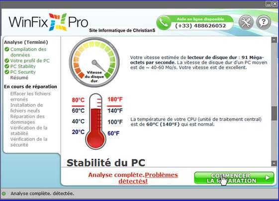 Remove  WinFix Pro
