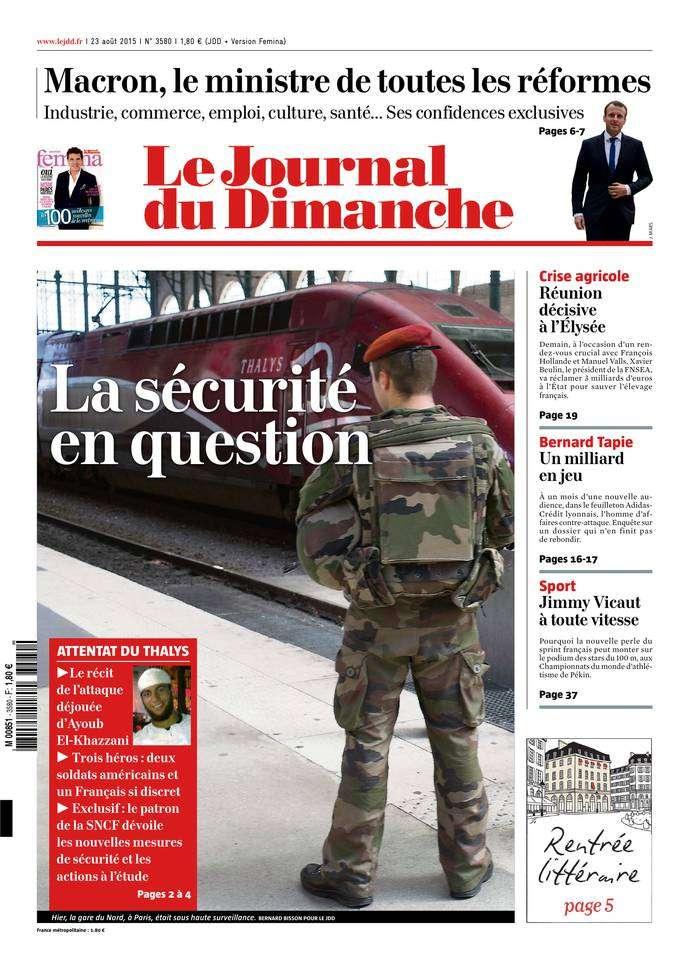 Le Journal du Dimanche du 23 Août 2015