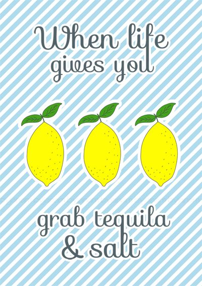 Blogparade Zitrone - Free printable Poster 'When life gives you lemons'
