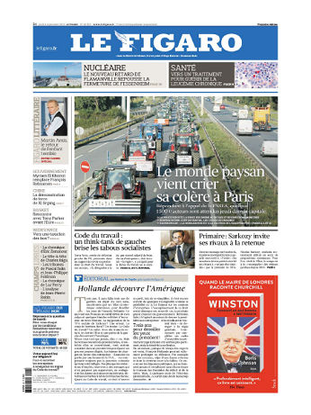 Le Figaro Du Jeudi 3 Septembre 2015