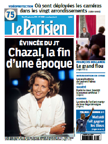 Le Parisien + Journal De Paris Du Mardi 8 Septembre 2015