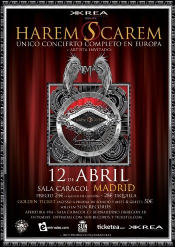 Harem Scarem - cartel Madrid