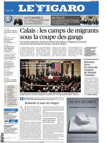 Le Figaro Du Vendredi 25 Septembre 2015
