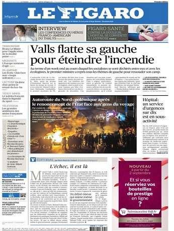 Le Figaro Du Lundi 31 Aout 2015