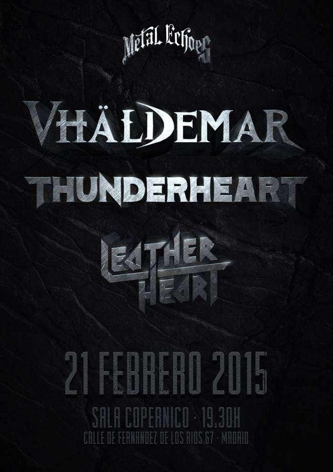 VHÄLDEMAR THUNDERHEART Y LEATHER HEART - cartel