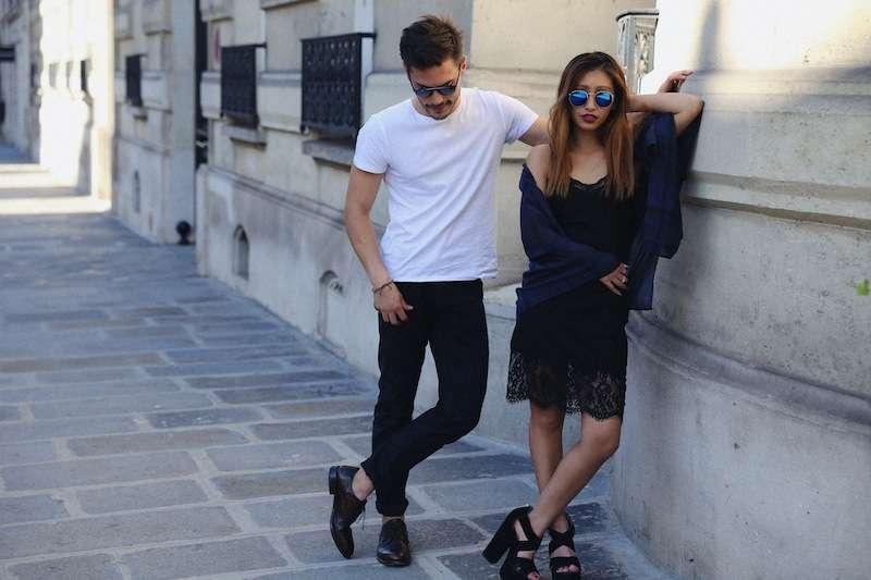 robe noire zara dentelle blog mode