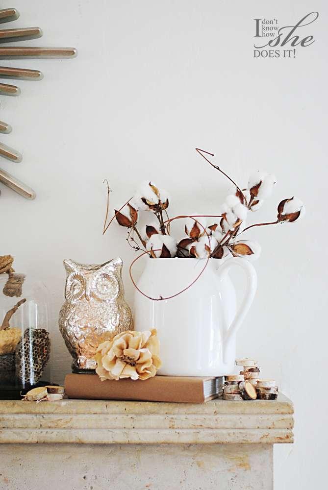 Autumn fireplace mantel decoration