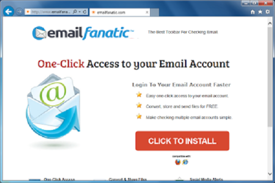 Remove Email Fanatic Toolbar
