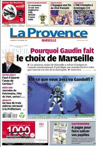 La Provence Marseille du vendredi 18 septembre 2015