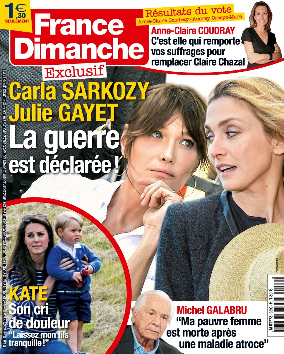 France Dimanche 3599 - 21 au 27 Août 2015