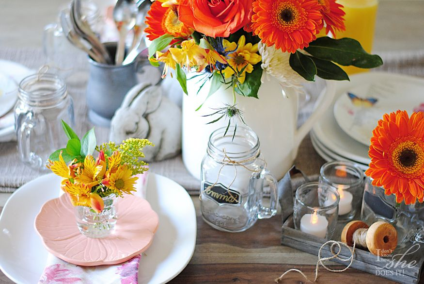Spring/Easter table setting