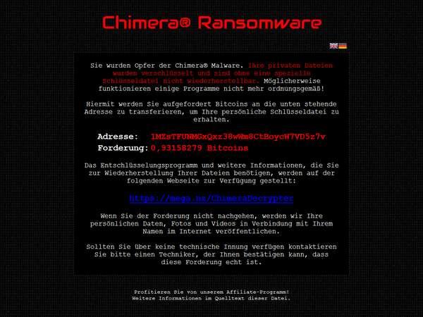 Remove Chimera Ransomware